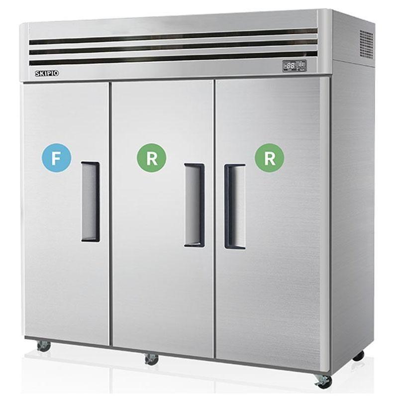 Reach In Freezer Chiller Combo Fridge Freezers Polyurethane Insulation Freezer