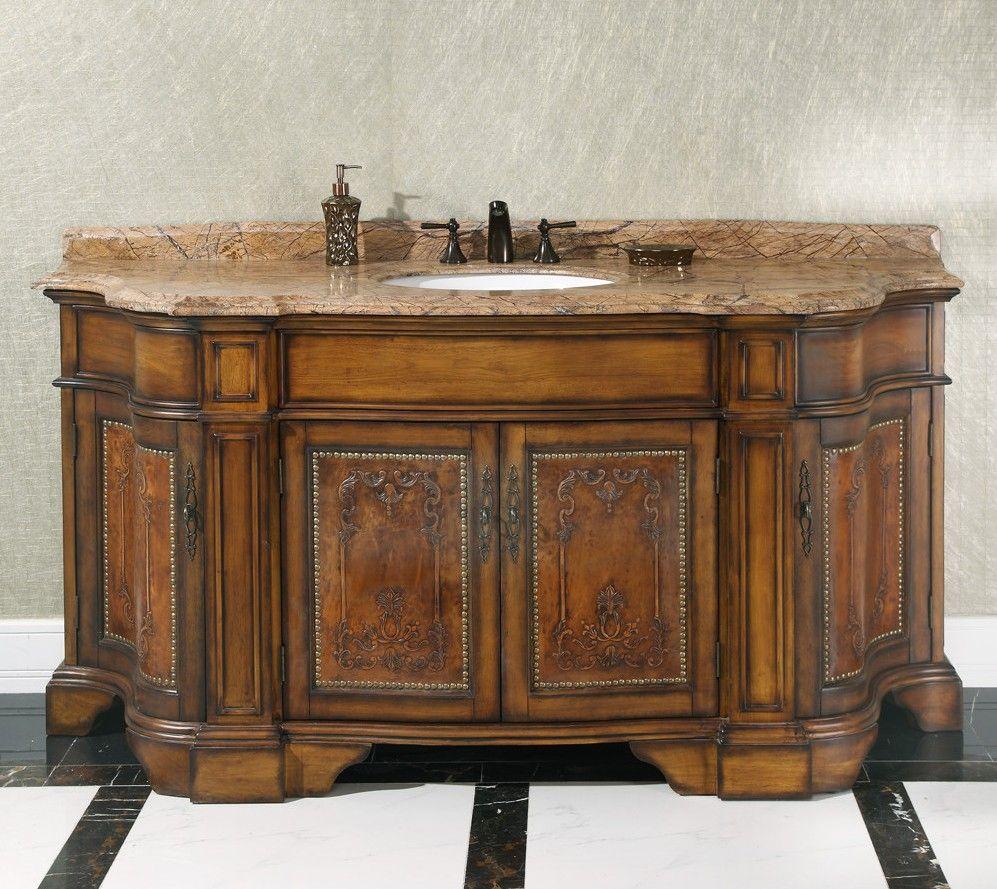 Legion 72 inch vintage single sink bathroom vanity wb - Antique bathroom sinks and vanities ...