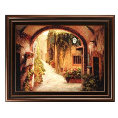 Product Details Morning Stroll Framed Print Our Tuscan Home