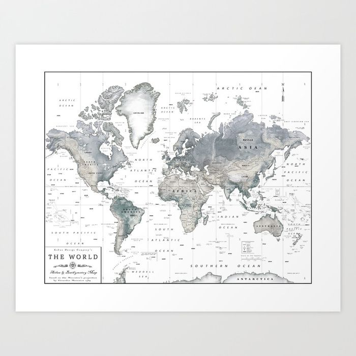 The world black and white relief map art print by the world black and white relief map art print by kokuadesigncompany society6 gumiabroncs Image collections