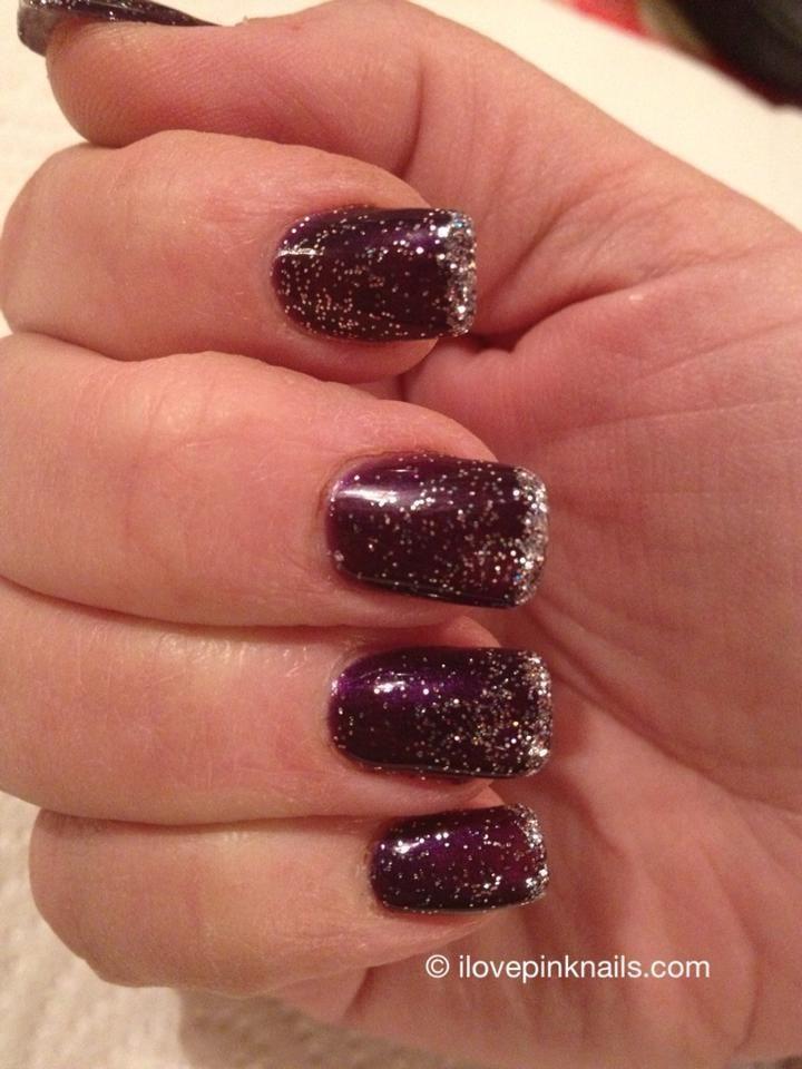 Plum and Diamond Rock Star Fade Nails | Nail Art Community Pins ...