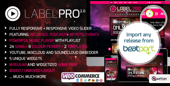 LabelPro is a Music WordPress Theme for music producers, djs and ...