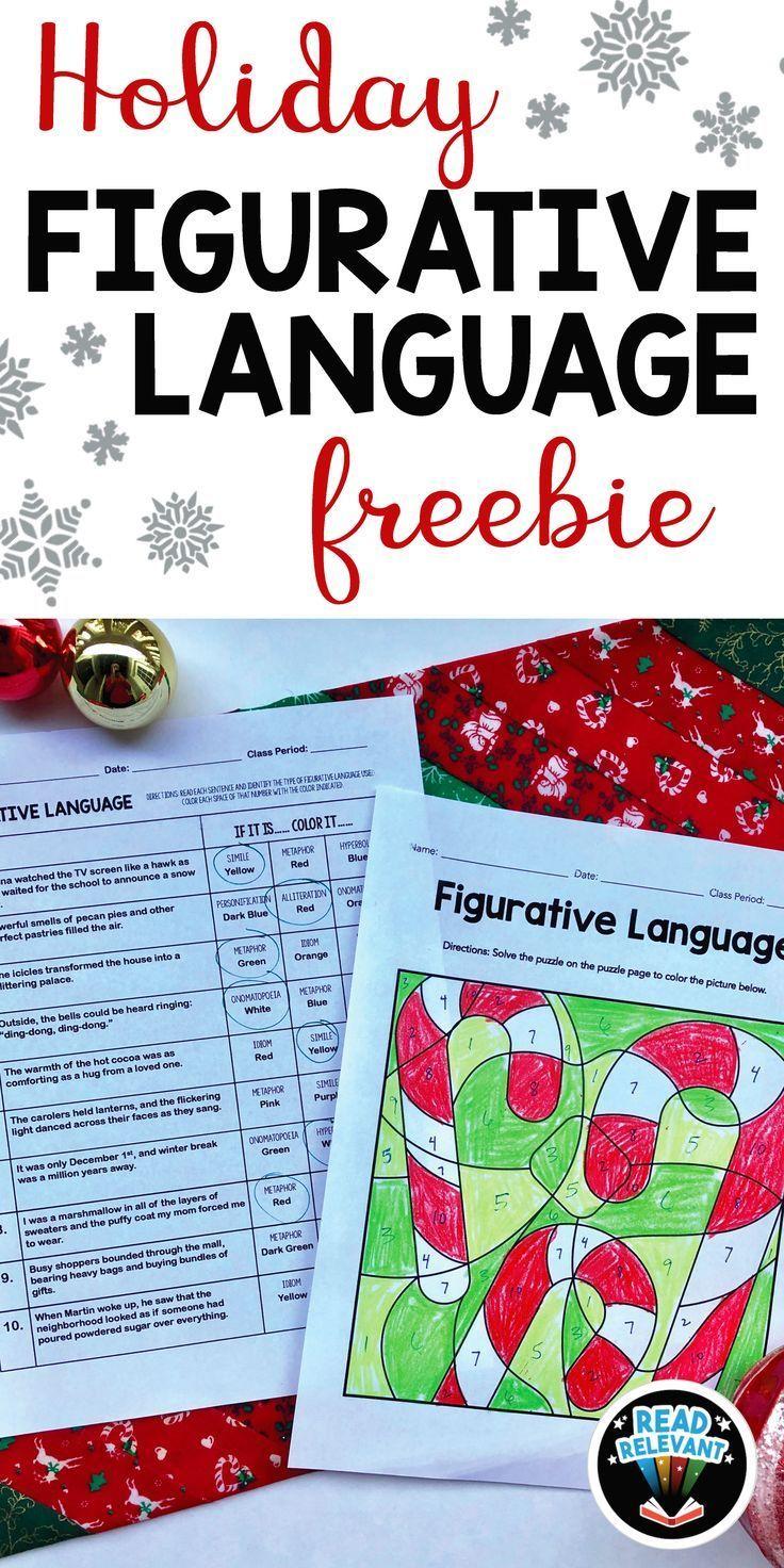 Holiday Figurative Language Freebie Fun, NoPrep Coloring