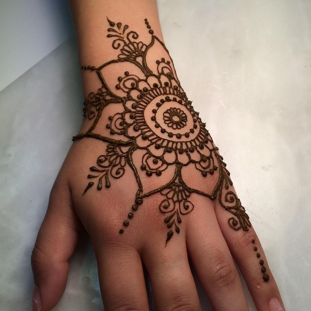 Simple Henna Tattoo Designs For Wrist: This Looks Easy But In Reality It Is Actually Hard