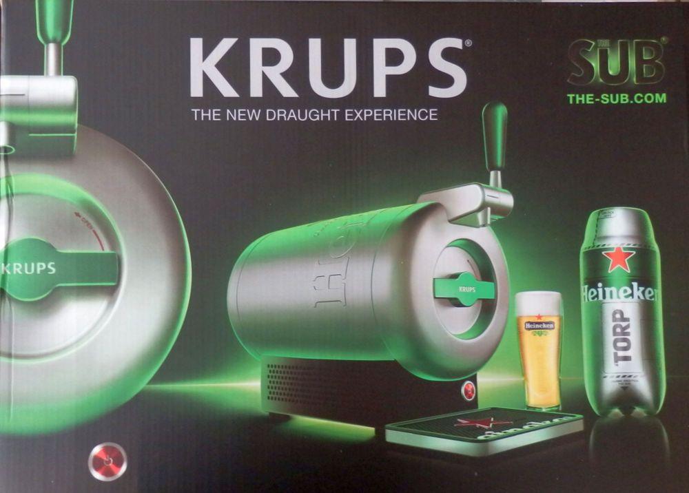 Mini Kühlschrank Heineken : Krups the sub heineken edition bierzapfanlage vb e