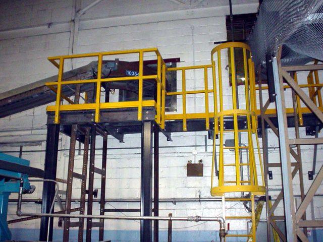 Plataforma Con Barandales Y Escalera Marina Con Guarda Apropiada Para El Sector Alimenticio De Fibra De Vidrio Mexican F Fibra De Vidrio Fibra Escalera Marina