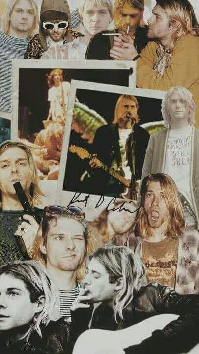Kurt Cobain Collage Kurt Cobain Nirvana Art Nirvana Wallpaper