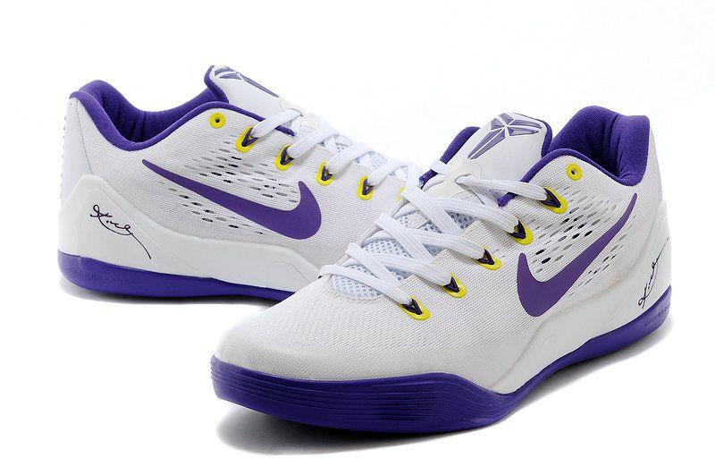 Kobe 9 Low EM White Court Purple