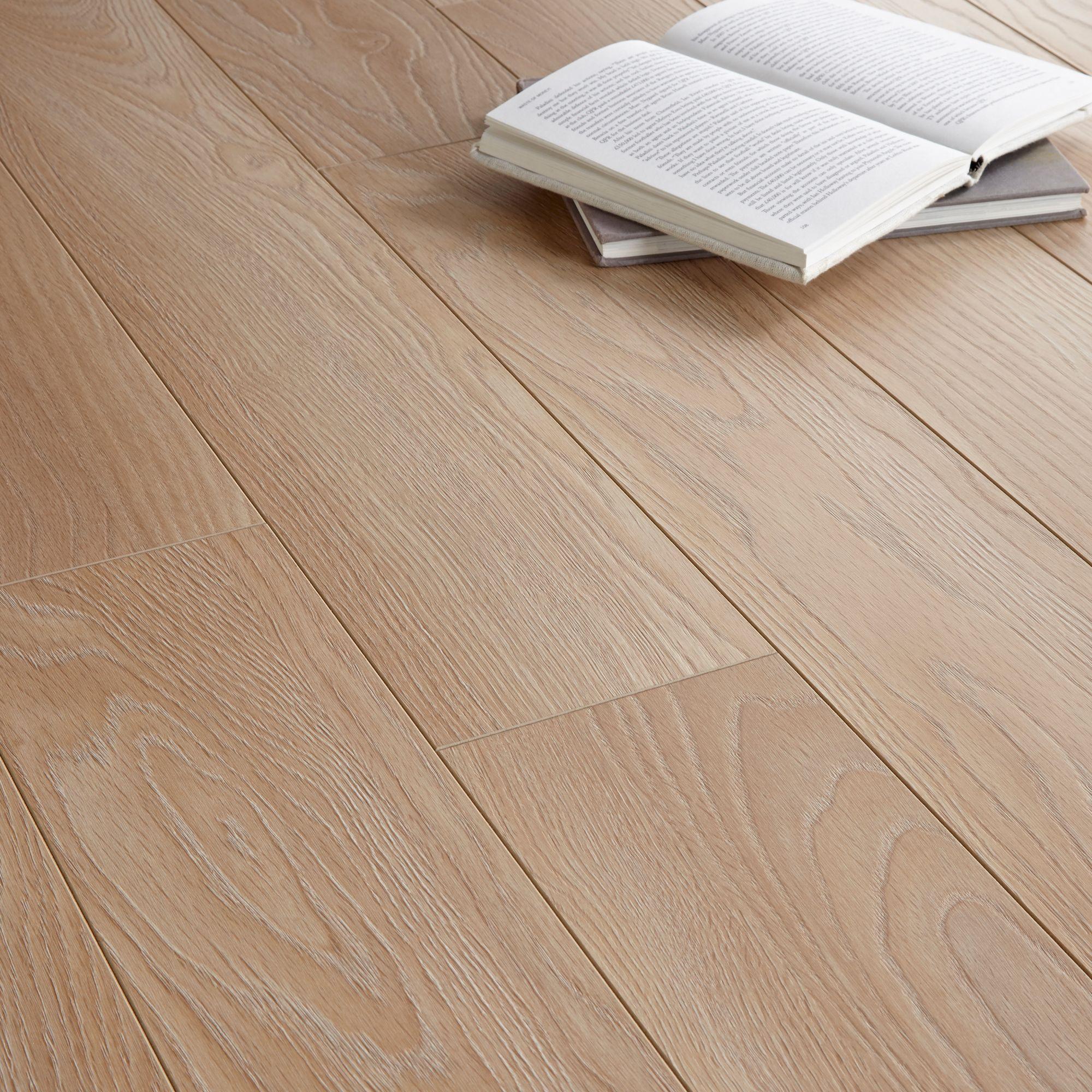 Colours Toccata Light Oak Effect Laminate Flooring 1 65m Pack Departments Diy At B Q Laminate Flooring Oak Laminate Flooring