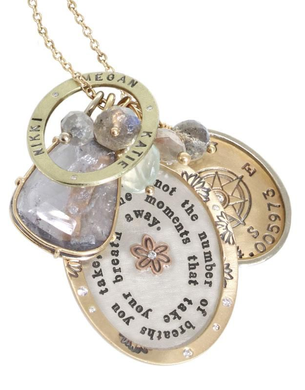 Heather Moore Jewelry Oval Necklace Charms, customizable.