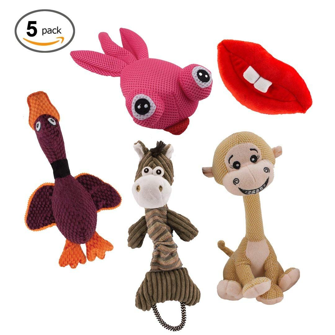 Dawgeee Dog Toys Value 5 Pack For Puppy Small Dogs And Medium