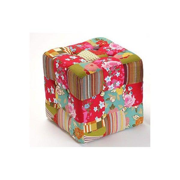 puff cuadrado de x cm tapizado en patchwork el puff es un elemento para disfrutar del