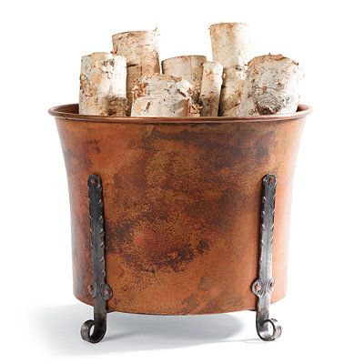 Copper /& Iron Bucket Vintage Style Nice For Restaurant Chips Farm house
