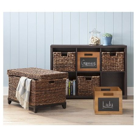 Target Storage Trunk Classy Wicker Large Storage Trunk  Dark Global Brown  Threshold™  Target