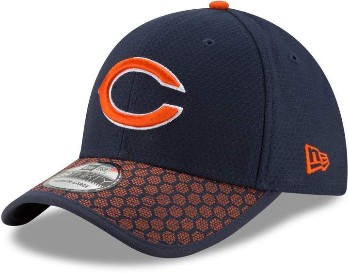 4e40b21616abb1 New Era Adult Chicago Bears 39THIRTY Sideline Fitted Cap Flex Fit Hats, Nfl  2017,