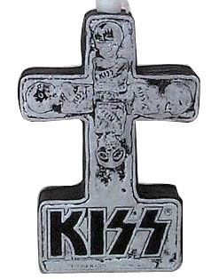 1999 KISS Cross Candle Holder