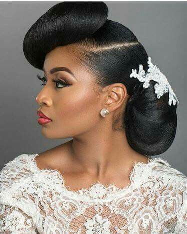 Beautiful Style For Any Glamorous Event Natural Wedding Hairstyles Natural Hair Styles Bridal Hair Updo