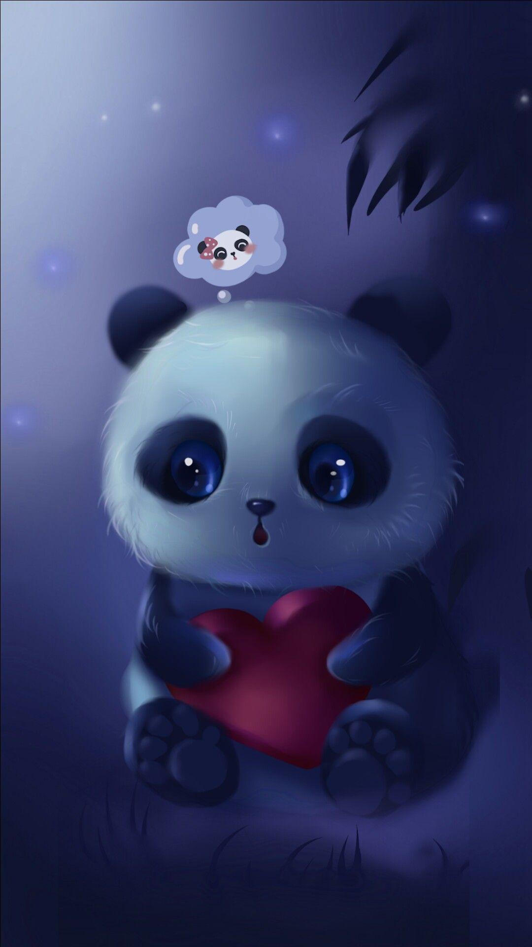 Pin By Betty Burks On Art Resim Cute Panda Wallpaper Panda Art Cute Panda Drawing