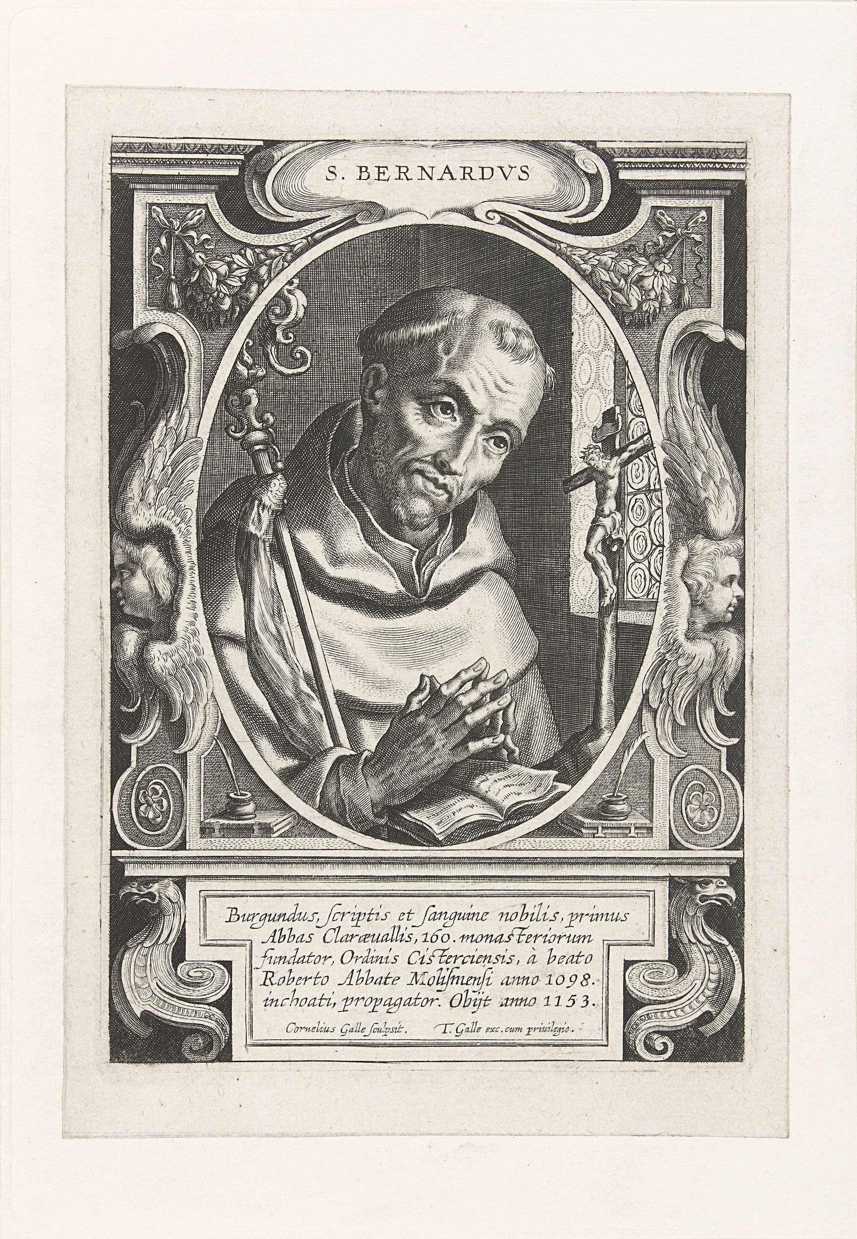 Cornelis Galle I H Bernardus Van Clairvaux Cornelis