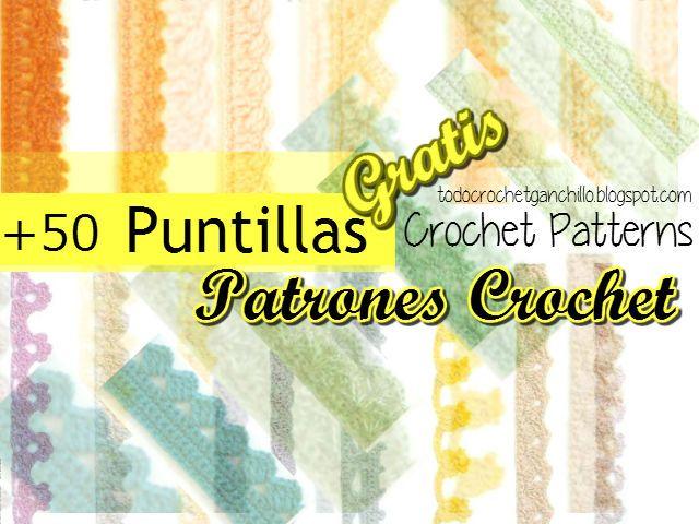 50 patrones de puntillas para tejer con crochet | cortinas cocina ...