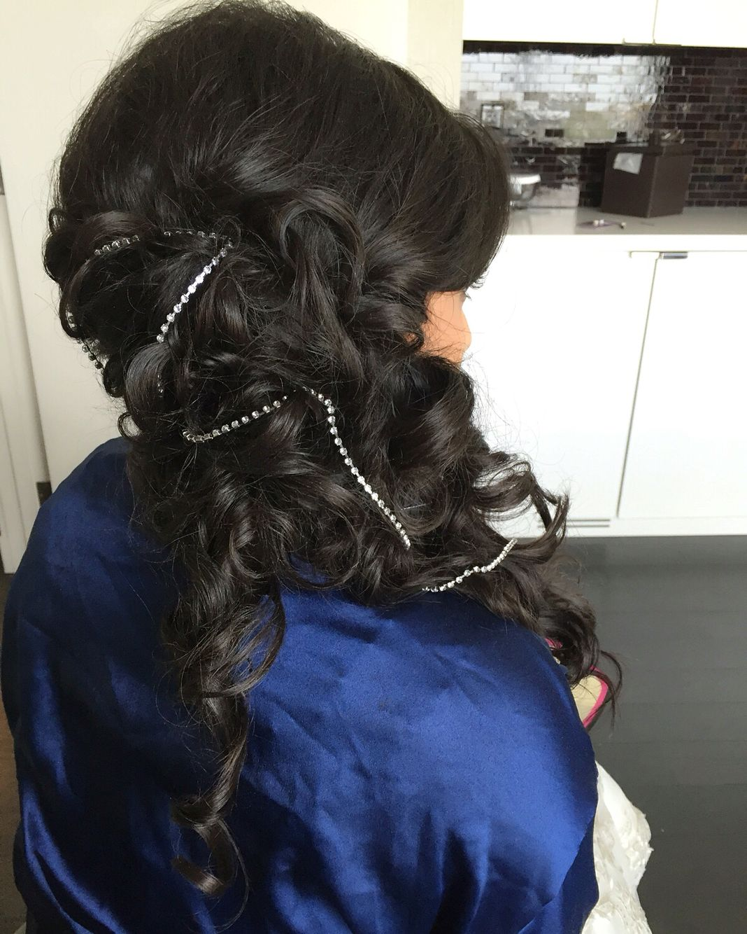 Hairstyle Wedding Extensions: Wedding Hair Bridal Hair Indian Reception Hair Style Long