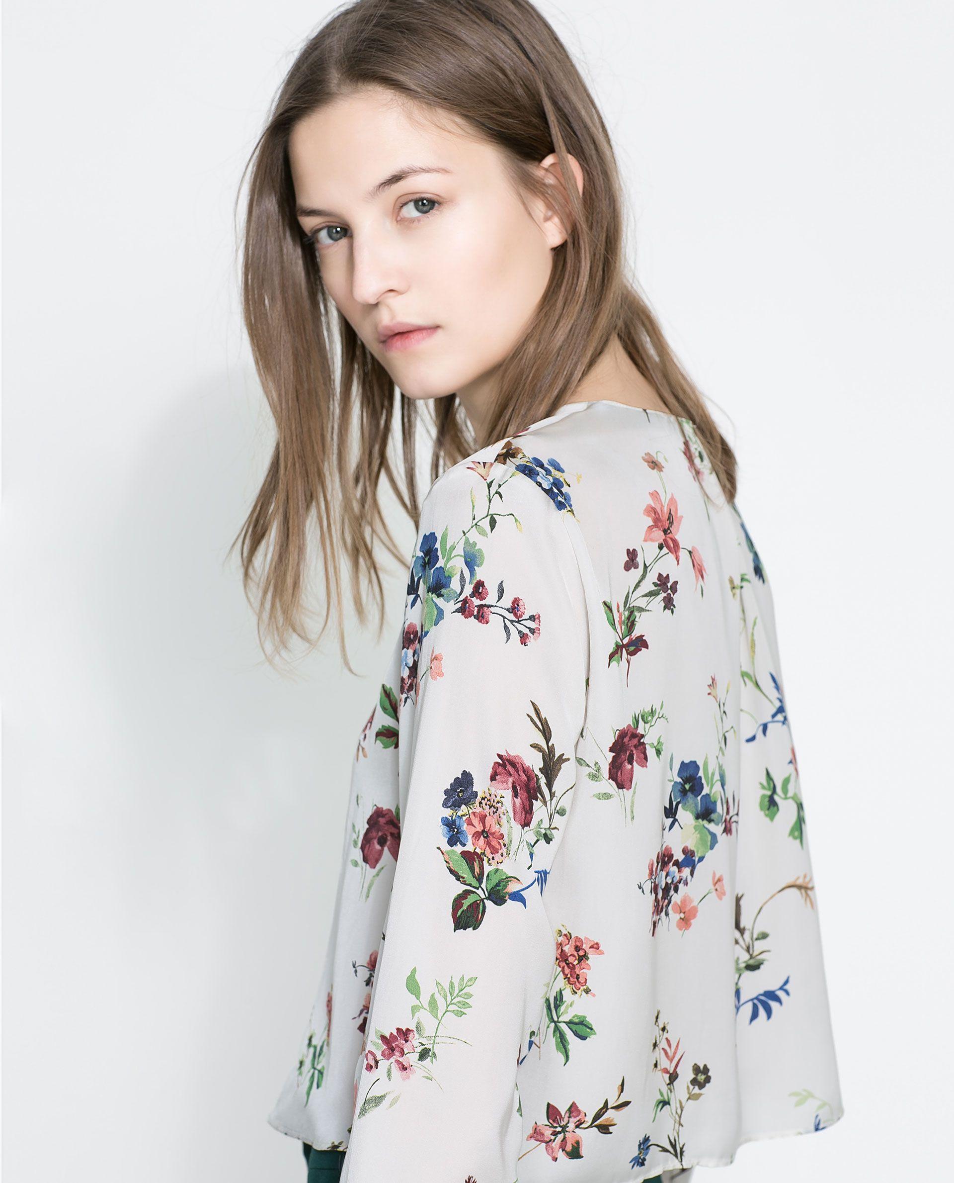 Flower blouse zara mightylinksfo