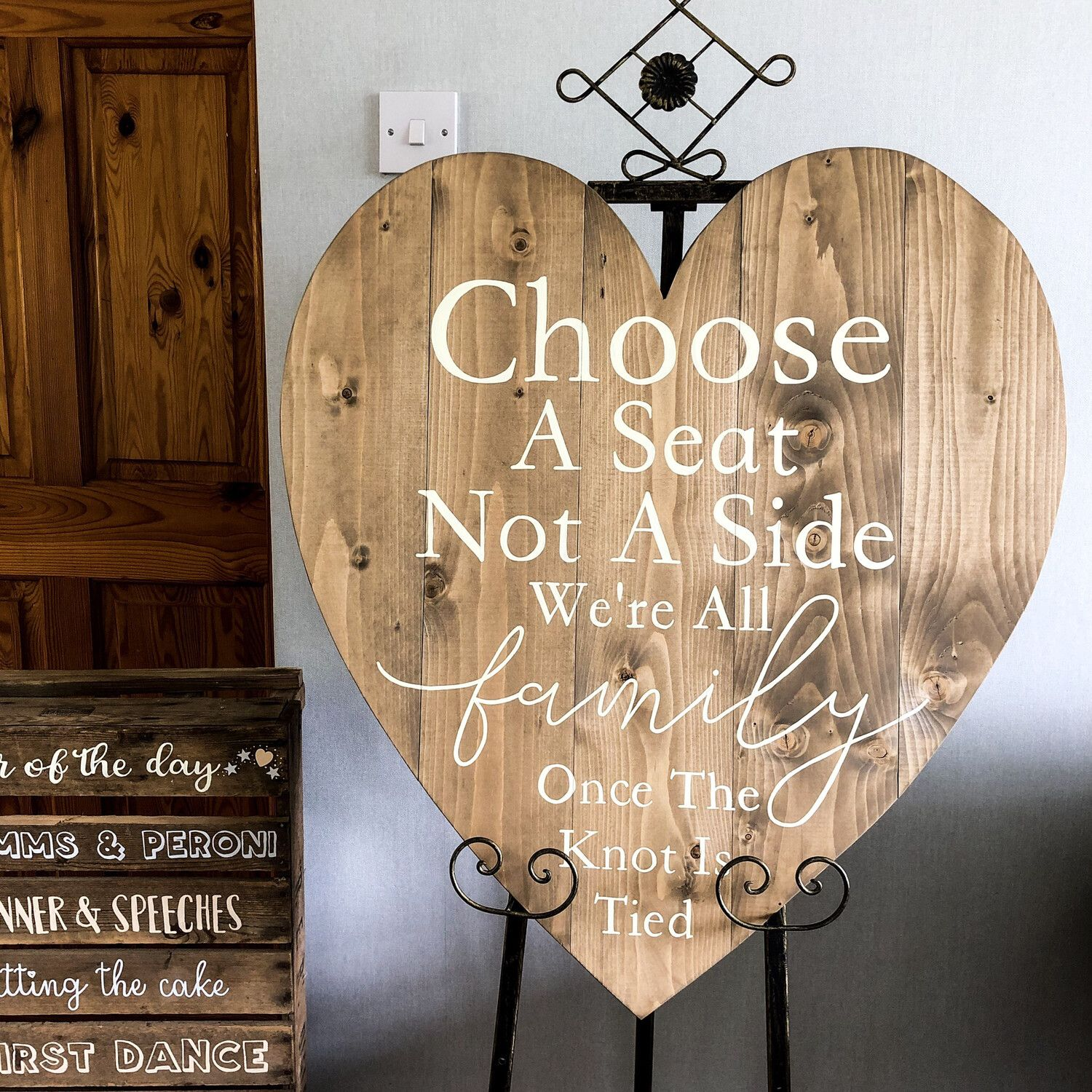 Supersized Wooden Heart Seating Sign
