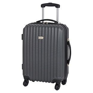 Buy Go Explore Small 4 Wheel Suitcase - Charcoal at Argos.co.uk ...
