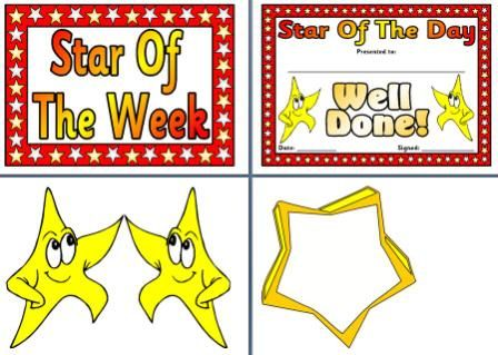 Instant display teaching resources otherposters for Star of the week poster template