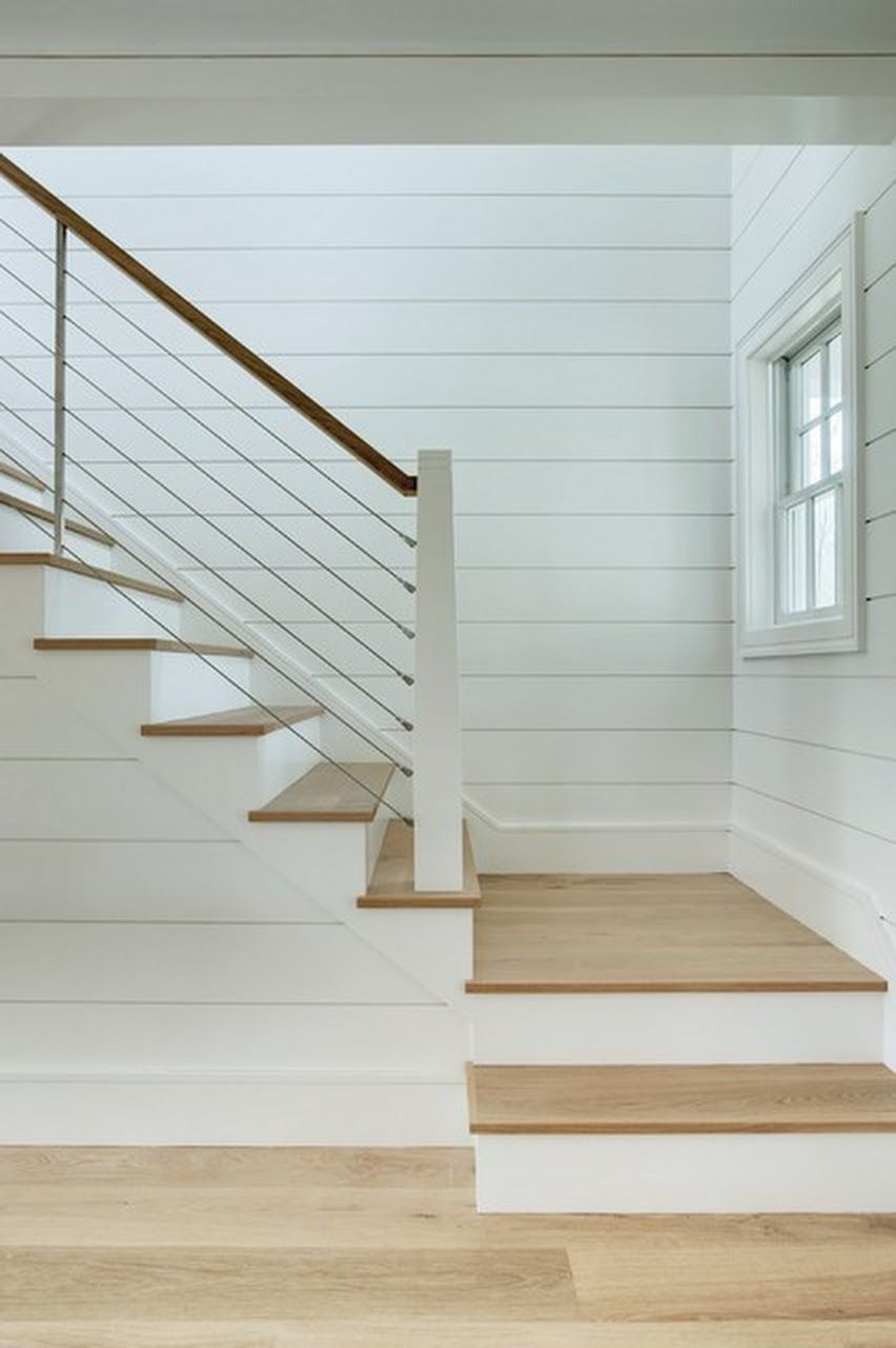 white staircase #staircaserailings