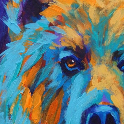 Abstract bear painting oils pinterest bears for Abstract animal paintings