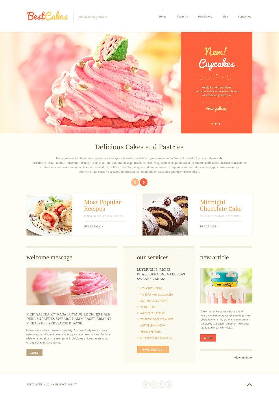 Home Bakery Website Wordpress Template Themes Business Responsive Wordpressthemes Shop Wordpress Themes Bakery Website Wordpress Website Design