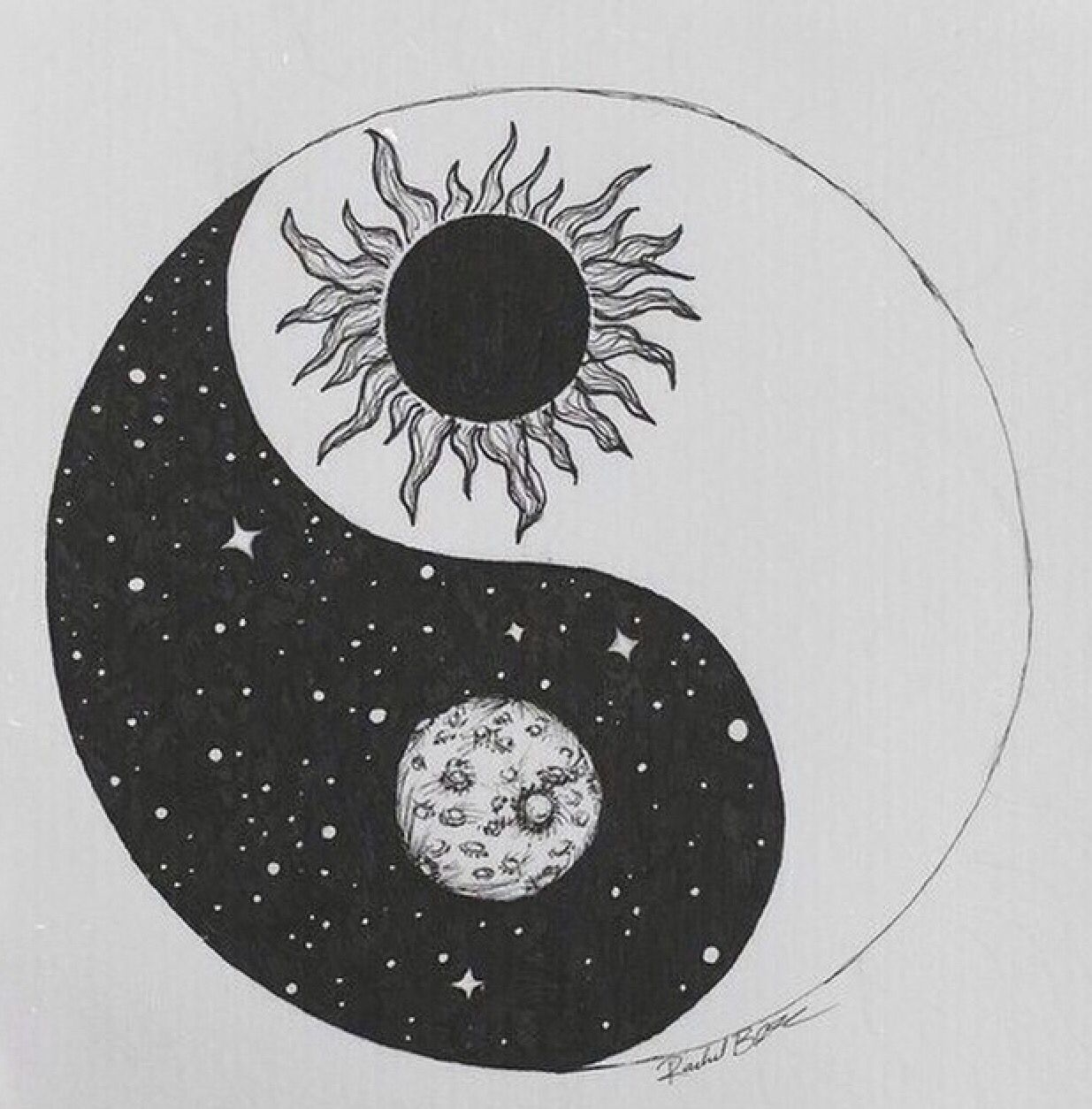 Moon Sun Yin And Yang Tattoos I Want In 2019 Tattoos Yin