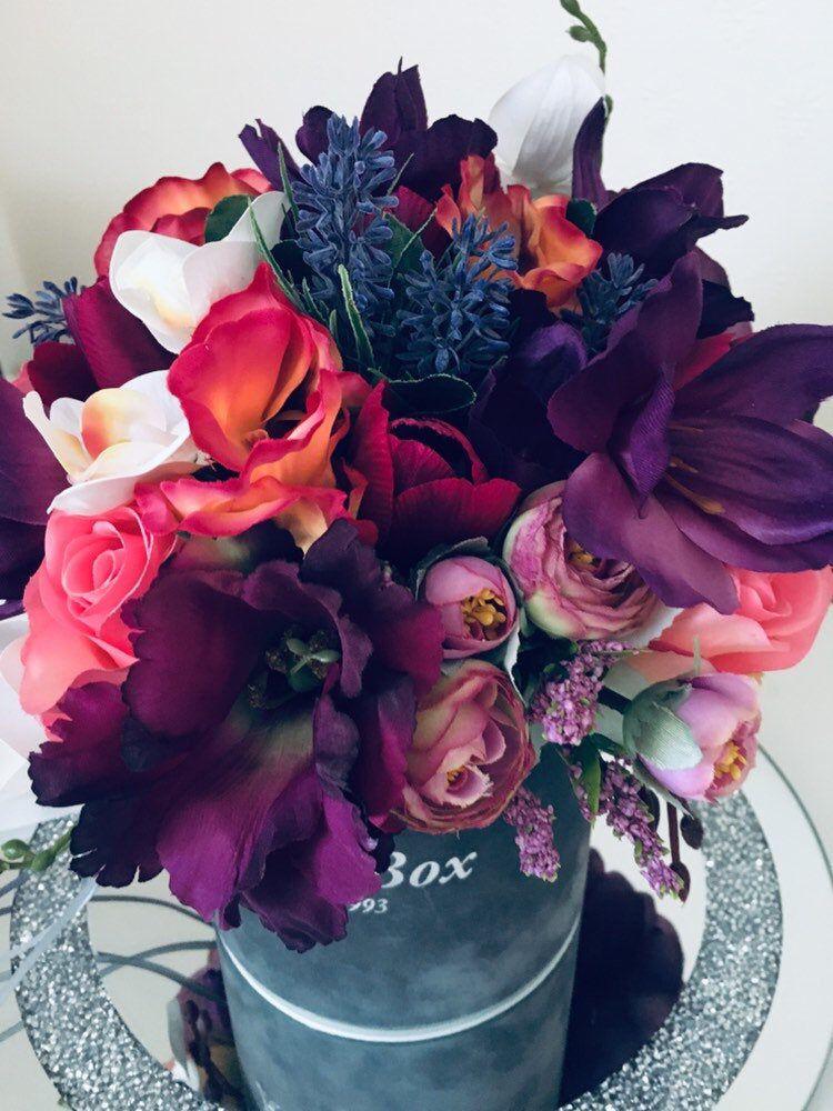 Artificial flower arrangement wedding home decor pastel