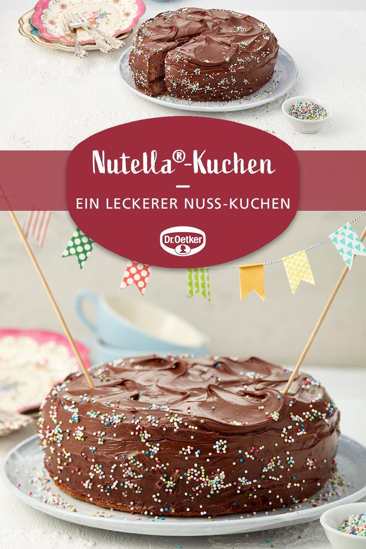 Nutella Kuchen Ein Susser Runder Nuss Kuchen Mit Nuss Nougat