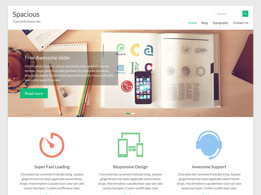 WordPress › Spacious « Free WordPress Themes | WordPress Themes ...