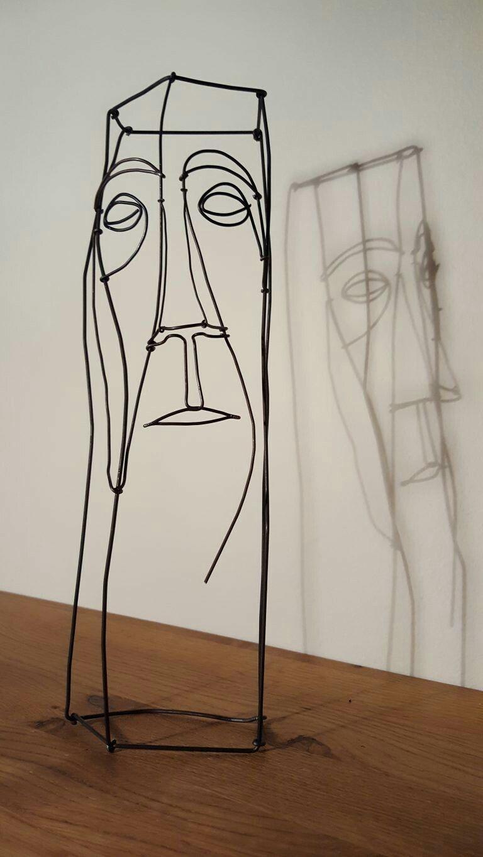 Wire art: wire sculptures | ск | Pinterest | Draht, Skulptur und Metall