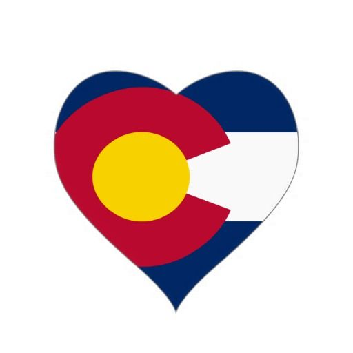 Colorado state flag heart sticker