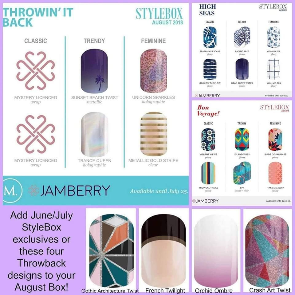 July th is the last day to suscribe to the august jamberry