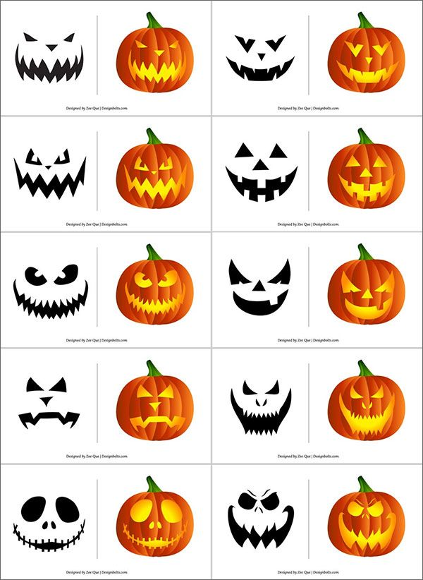 420+ Free Printable Halloween Pumpkin Carving Sten