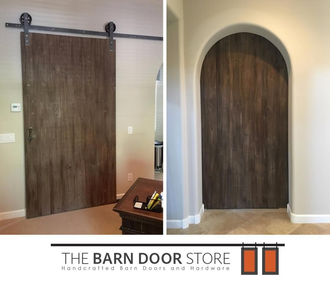 Customer Can You Install A Barn Door In An Arched Entryway The Barn Door Store Yes You Sure Can E Barn Door Hinges Arched Barn Door Interior Barn Doors