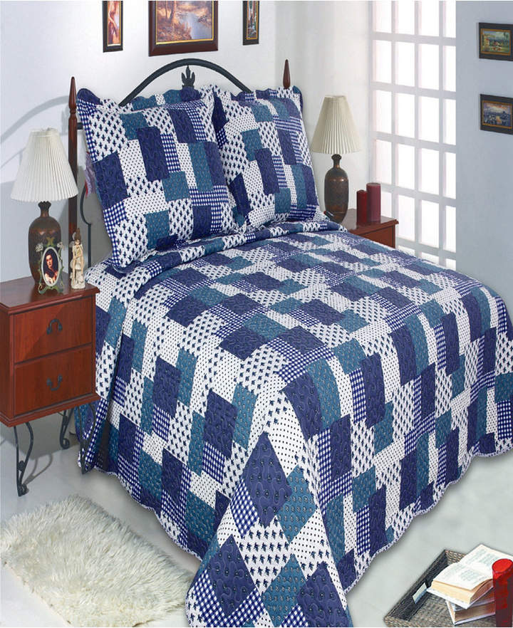 Co United Curtain Inc Beverly Full/Queen Quilt Set Bedding