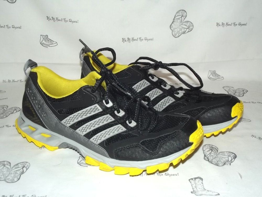 new concept fc90f c6771 ADIDAS Kanadia TR 5 Black Gray Yellow Trail Running Sneakers Mens Size 11   fashion  clothing  shoes  accessories  mensshoes  athleticshoes (ebay link)