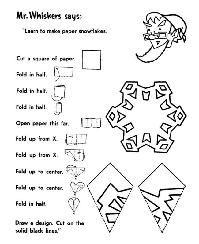 christmas activities kids free printable games cut out snowflakes - Holiday Printables For Kids