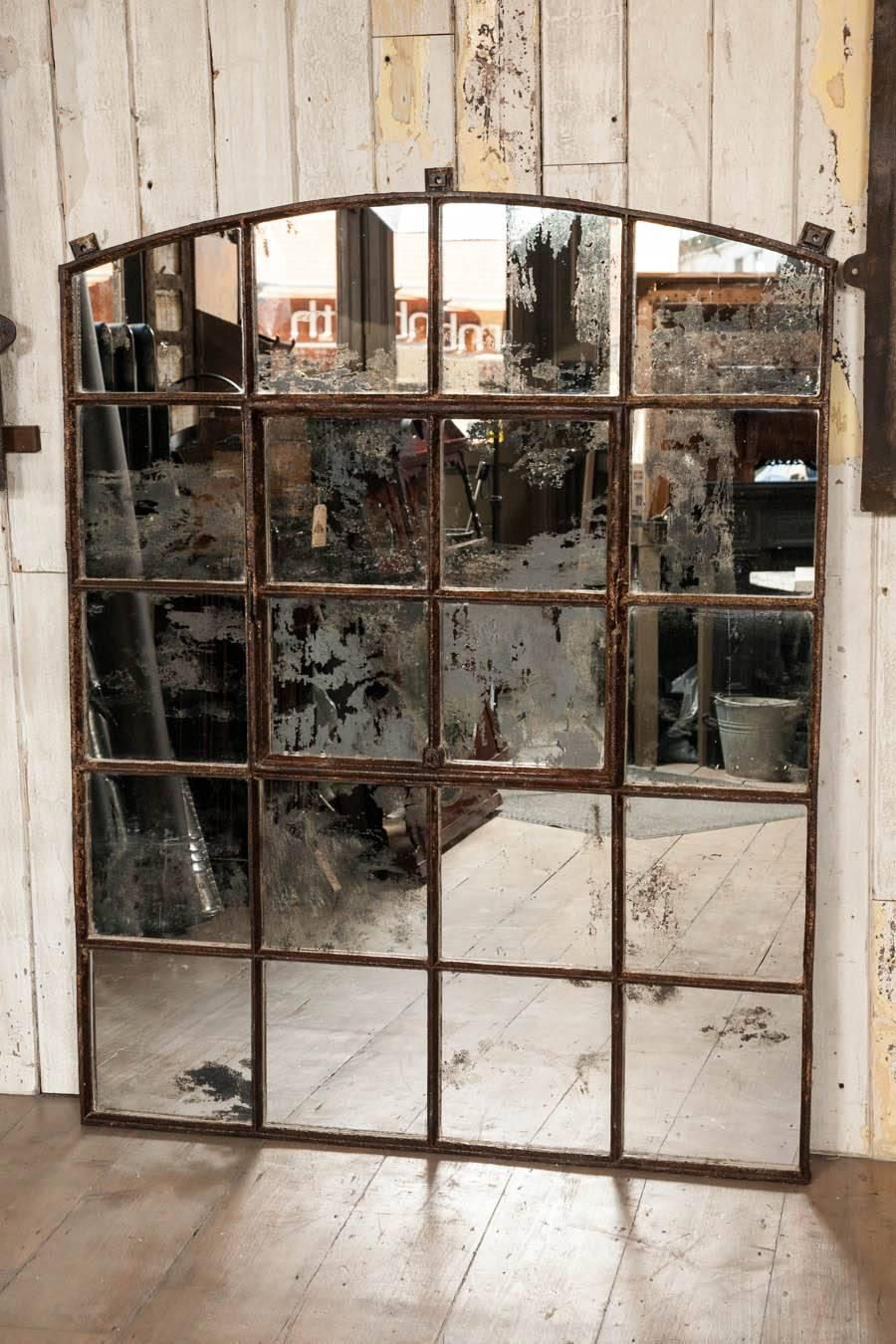 Victorian Cast Iron Warehouse Window Mirror 1stdibs Com Window Mirror Warehouse Windows Industrial Floor Mirrors