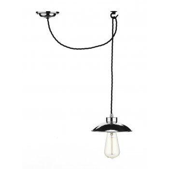 Artisan lighting dallas industrial style hanging ceiling pendant david hunt lighting dallas industrial style chrome pendant light with ceiling hook aloadofball Image collections