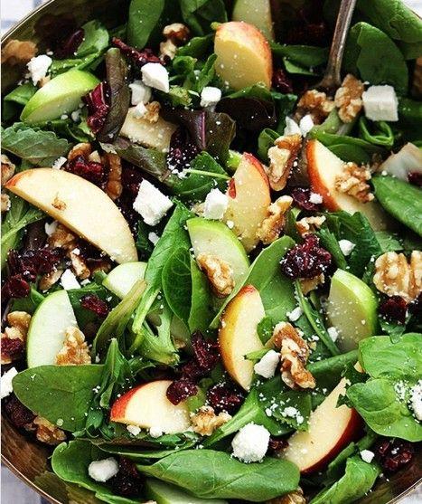 Szpinak Jablko Kozi Ser Orzechy Wloskie Zurawina Cranberry Walnut Salad Recipes Walnut Salad