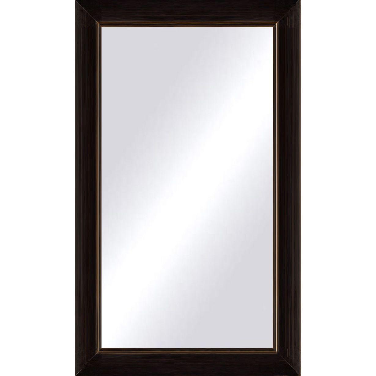 Oversize Black Copper Framed Mirror 44 X 60 Blackbrown Copper