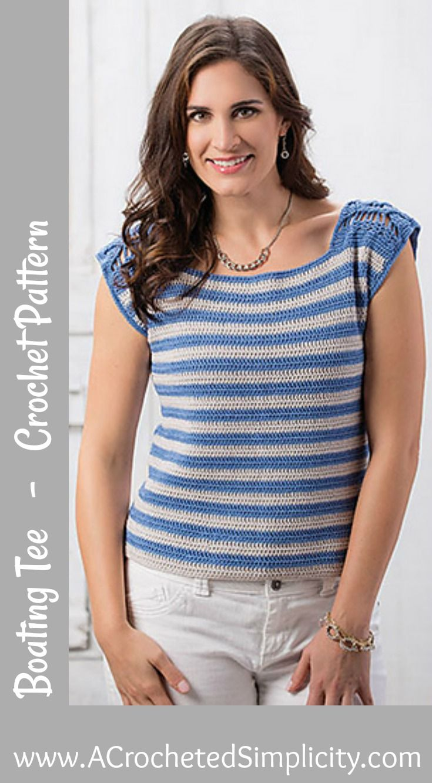 Boating Tee pattern by Jennifer Pionk | Crochet, Patterns and ...
