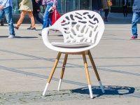 White Reef Garten Stuhl Weiss Mit Sitzkissen Weisse Stuhle Stuhle Sitzkissen